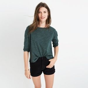 MADEWELL MUSICA THREE QUARTER TEE L GREEN TOP